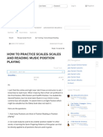 How to Practice Scales