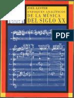 ENFOQUES ANALITICOS DE LA MUSICA DEL SIGLO XX