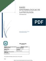 BASES EPISTEMOLÓGICAS  DE LA PSICOLOGÍA (1)
