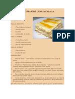 TORTA FRIA DE banana