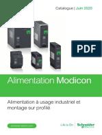 Catalogue Alimentation Modicon à usage industriel et montage sur profilé