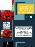 VISION-MISSION STATEMENT OF THE CHURCH IN THE PHILIPPINES