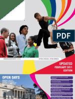 Undergraduate Prospectus - February 2011 Update