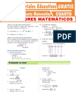 Operadores Matemáticos Para Cuarto Grado de Secundaria