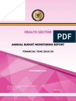 UGANDA Health Sector Annual Budget Monitoring Report FY2019 -2020