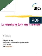 Chap2_La communication écrite dans la recherche
