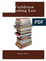 Phillip G. Kayser-Worldview Reading List
