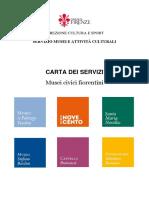 Carta dei servizi Musei Civici Fiorentini