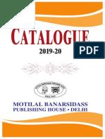 MLBD PUBLISHING HOUSE CATALOGUE 2019-20 2