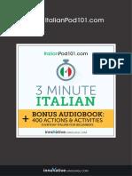 Italian 3 Minute Kobo Audiobook