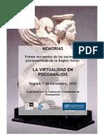 Memorias La Virtualidad en Psicoanálisis_Federación Colombiana de Psicoanálisis