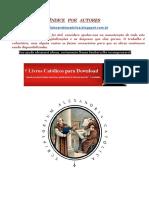 ÍNDICE POR AUTORES - ALEXANDRIA CATOLICA