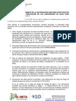 REQUISITOS AUTORIZACION SANITARIA ACUEDUCTOS   2019
