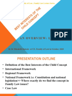 Family Law Lecture 13 - Best Interests of the Child Concept
