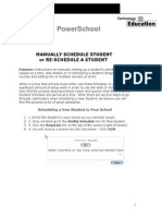 manually schedule students