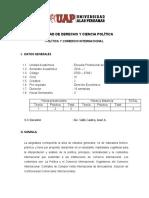 POLITICA Y COMERCIO INTERNACIONAL