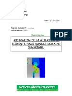 APPLICATION_DE_LA_ METHODE_DES_ELEMENTS_FINIS_DANS_LE_DOMAINE_INDUSTRIEL