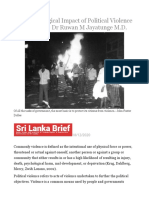 The Psychological Impact of Political Violence in Sri Lanka – Dr Ruwan M Jayatunge M.D..odt
