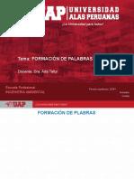 7. FORMACIÓN DE PALABRAS