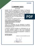 COMUNICADO RA-026-2020 INTERRUPCION SET TAMBURCO APURIMAC