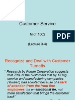 Customer Service - Lecture 3 - 4