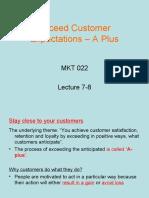 Customer Service Lecture 7- 8