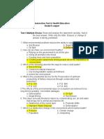 Summative test in health Ed. G-9
