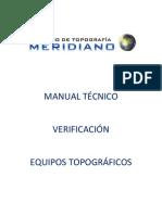 Manual Técnico Procedimiento Verificación Equipos Topográficos (Meridiano 0)