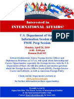 US Dept of State Info Sess Flyer