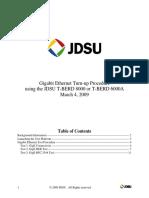 JDSU BERT & RFC 2544 TESTING