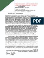 Brian's letter to U.S> Defense Secretary on arresting Federal Judges
