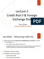 Lecture 5 Credit Risk II  Foreign Exchange Risk