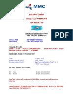 MMC PRE - TRAVEL INFO -  27 May ( D7 )