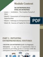 Initiating Entreprenuerial Venture