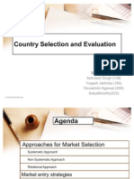 Country Selection and Evaluation (2)