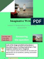 Imaginative Writing - lesson 10 Writing assessment