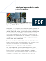 ALFREDO SERRANO  Bolivia la victoria de las convicciones y la lección contra los atajos