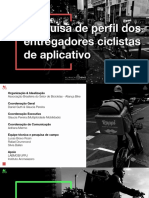 Apresentação pesquisa de perfil dos entregadores ciclistas de aplicativo