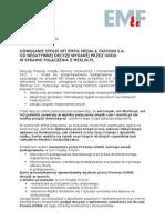 Odwołanie spółki NFI EMF od negatywnej decyzji UOKiK
