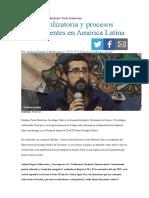 Entrevista al sociólogo Emiliano Terán Mantovani Crisis civilizatoria y procesos constituyentes en América Latina