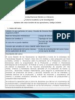 syllabus de curso gestión de las operaciones