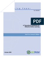 A Theoretical Framework for Effective Online Learning