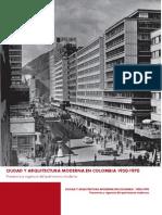CIUDAD Y ARQUITECTURA MODERNA EN COLOMBIA 1950-1970