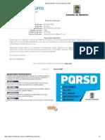 Atención PQRS --Fin de Radicación PQR--