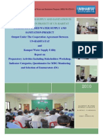 Report on Stakeholder workshop indicator categories questionaire for MDG (D1)