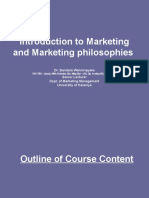 Introduction to marketing - MBA