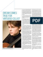 Dream Comes True for Virtuoso Cellist