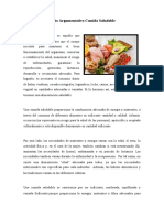 Texto Argumentativo Comida Saludable