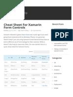 Cheat Sheet For Xamarin Form Controls - Xamarin Help