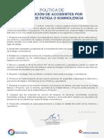 Politica de Fatiga y Somnolencia.pdf